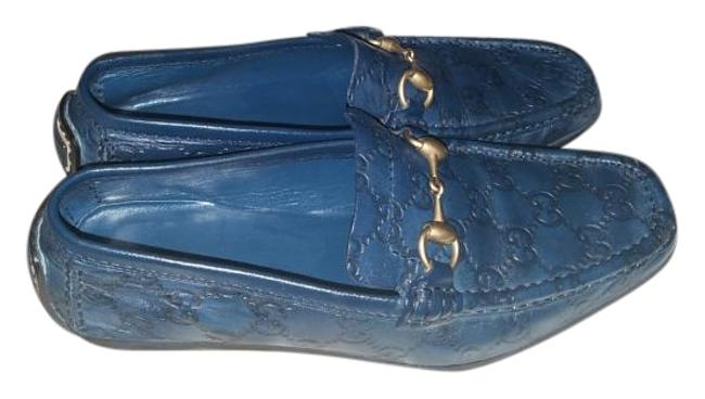 Item - Blue Women's ssima Margaux Calf Leather Loafer Flats Size US 8.5 Regular (M, B)