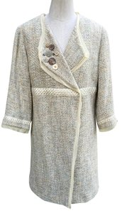 J. Jill Embellished Tan Cream Coat