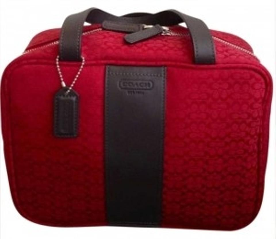 Coach Toiletry Maroon Deep Red Travel Bag