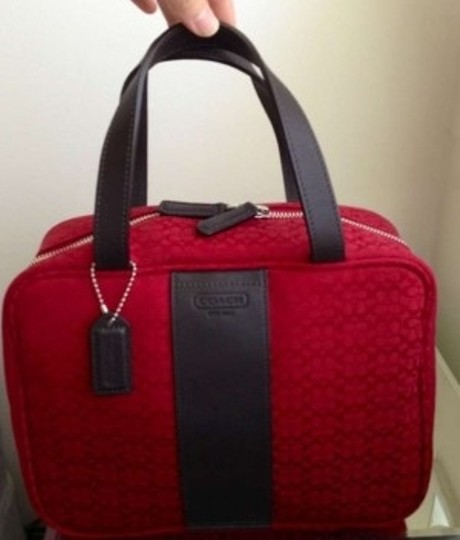 Coach Toiletry Toiletry Maroon / deep red Travel Bag