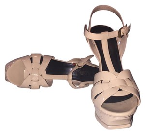 Saint Laurent Heels Designer Beige Sandals