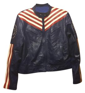 Rem Garson Blue Leather Jacket
