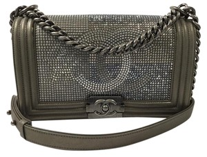 Chanel Boy Flap Stud Metal Shoulder Bag
