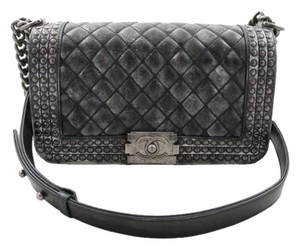 Chanel Boy Studs Medium Shoulder Bag