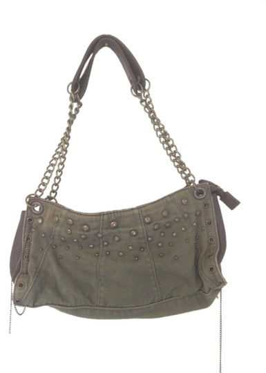 Preload https://item3.tradesy.com/images/brass-rivets-gold-chains-military-olive-green-brown-fabric-cloth-shoulder-bag-1971872-0-0.jpg?width=440&height=440