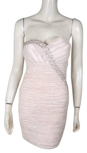 Romeo & Juliet Couture Rhinestone Sequin Ruched Dress