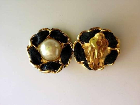 Chanel Chanel Clip On, Pearl, Flower Earrings