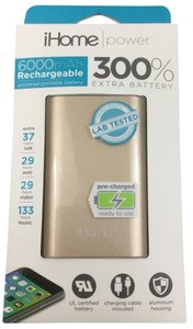 iHome Gold Power 6000 mAh Rechargeable Universal Portable Battery