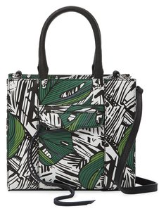 Rebecca Minkoff Mab Tote Mini Jungle Print Saffiano Leather Convertible Tote Cross Body Bag