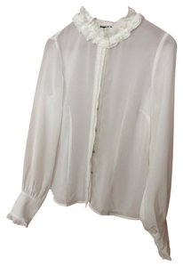 Pamela Dennis Button Down Shirt white