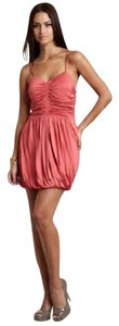 Twelfth St. by Cynthia Vincent Ruched Party Silk Mini Bubble Hem Dress