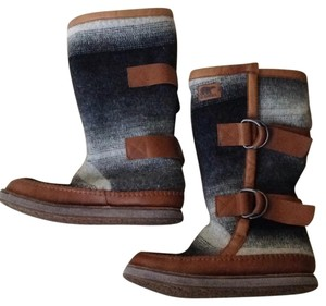 Sorel Gray black and brown Boots