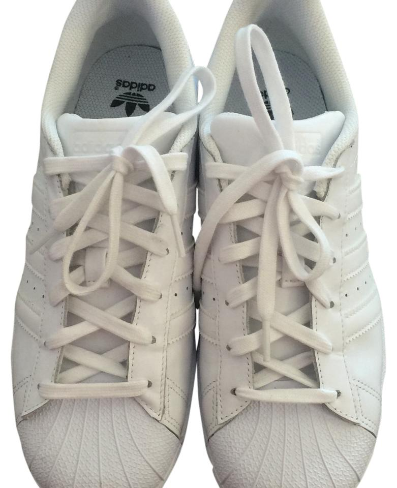 brand new 2bffb b2658 White Shell Toes Sneakers