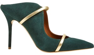 Malone Souliers Suede Dark green Mules