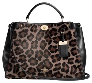 Coach Satchel in Black, Brown