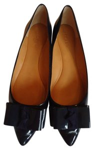 J.Crew Patent Leather Navy Bow Flats