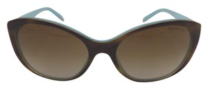 Tiffany & Co. Brown and Light Blue Tiffany Cat Eye Sunglasses TF 4086-H 8164/3B 56