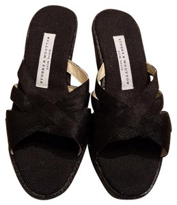 Stubbs & Wootton And Grace Sandals Grace Rib Rope Sandals Ribbon Sandal Black Wedges