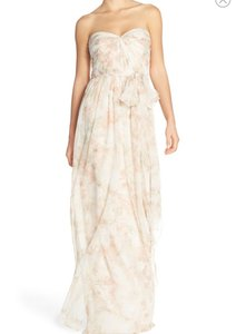 Jenny Yoo Blush Multi 'nyla' Floral Print Convertible Strapless Dress