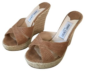 Jimmy Choo Tan Wedges