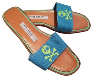 Stubbs & Wootton Turquoise Blue Sandals
