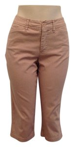 St. John Capris Beige with white stripes