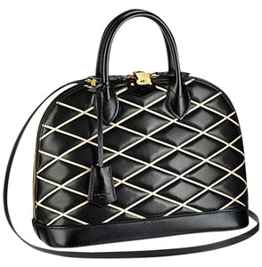 Louis Vuitton Satchel in Black, White