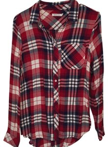 Kenneth Cole Reaction Button Down Shirt Red, white, & blue