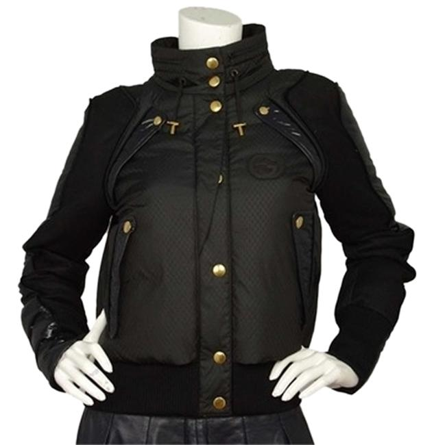 Preload https://item1.tradesy.com/images/gucci-black-cropped-gg-monogram-puffer-size-8-m-1972075-0-0.jpg?width=400&height=650