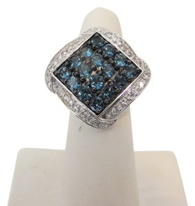 Colleen Lopez Colleen Lopez London Blue and White Topaz Ring 7
