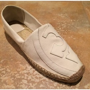 Tory Burch Casual Canvas Espadrille Ivory Flats