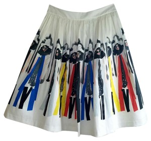 Alice + Olivia Caricature Skirt Donald Robertson Stacey Montage