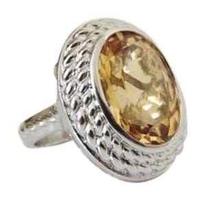 Colleen Lopez Colleen Lopez Sterling Oval Gemstone Ring