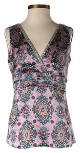 Alice & Trixie Silk Paisley Print Embellished V-neck Top