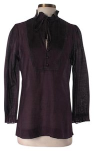 Joie Silk Longsleeve Top Purple
