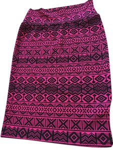 LuLaRoe #cassie Skirt Pink and black