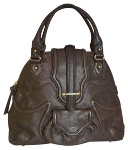 Botkier Leather Large Satchel in Brown