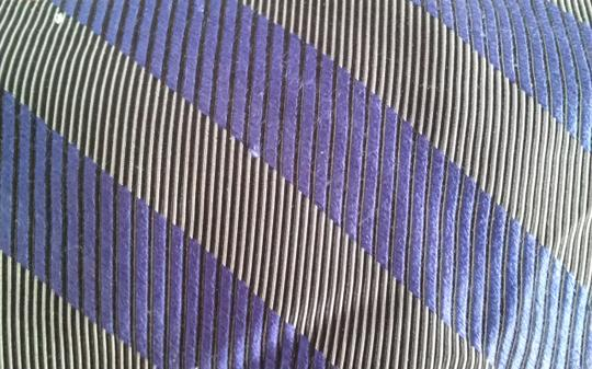 Timo Cosima Timo Cosima Blue & Silver Diagonal Striped 100% Silk Men's Tie Image 6