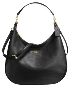 Coach Leather Madison Gold Hardware Satchel in Black