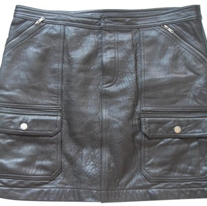 Ralph Lauren Blue Label Skirt Black soft leather