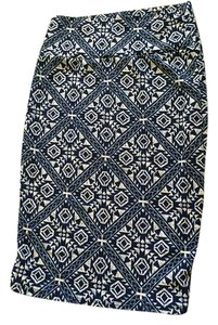 LuLaRoe Skirt Blue and beige