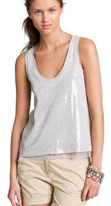 J.Crew J. Crew Collection Sequin Top gray (Heather Stone)