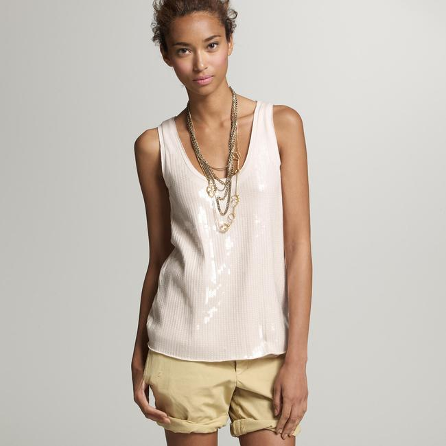 J.Crew Collection Sequin Tissue Blouse Top gray (Heather Stone)
