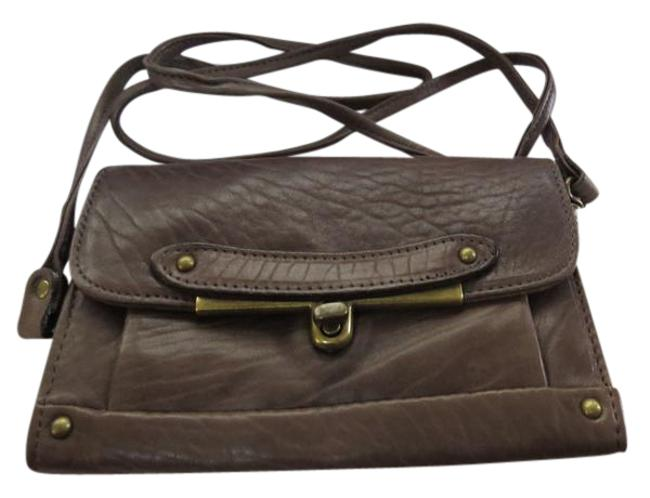 "Item - Clutch ""Simone"" Taupe Convertible Cross-body/Clutch Brown Lambskin Leather Cross Body Bag"