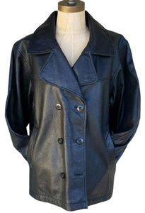 Brandon Thomas #brandonthomas #leather #doublebreasted #pebbled #collar Leather Jacket