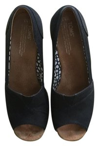 TOMS Wedges Black Wedges