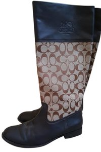 Coach Signature Rider Brown Boots