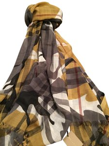 Burberry Burberry Multicolor Camouflage Check Print Scarf new