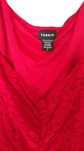 Torrid Babydoll Red Top Red, Lace