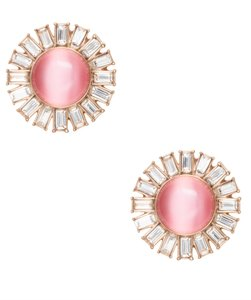 Kate Spade NWT KATE SPADE CRYSTAL CIRCLES SUNBURST STUDS EARRINGS BLUH PINK W BAG